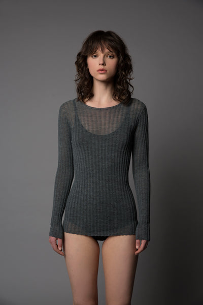 Merino Tulle Crew Top - Standard Issue