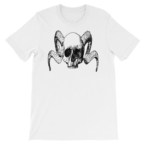 HORNED SKULL<br> Men's Short Sleeve<br><br>
