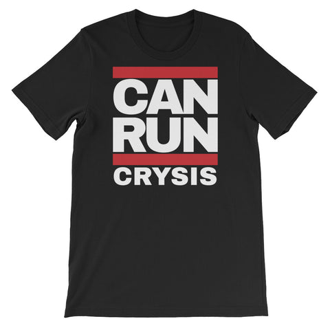 CAN RUN CRYSIS<br> Men's Short Sleeve<br> (Ver. 1W)
