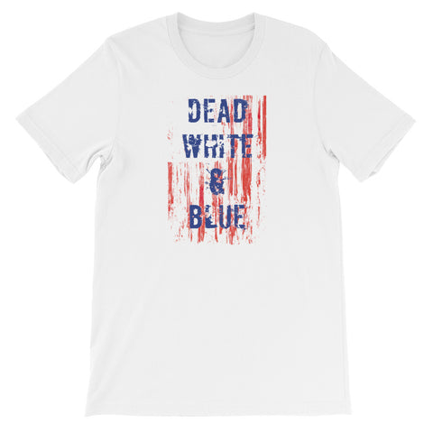 DEAD WHITE AND BLUE<br> Women's Short Sleeve<br><br>