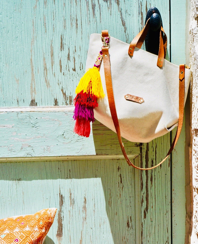 Canvas Tote Handmade Leather Goods Lilly and Oak