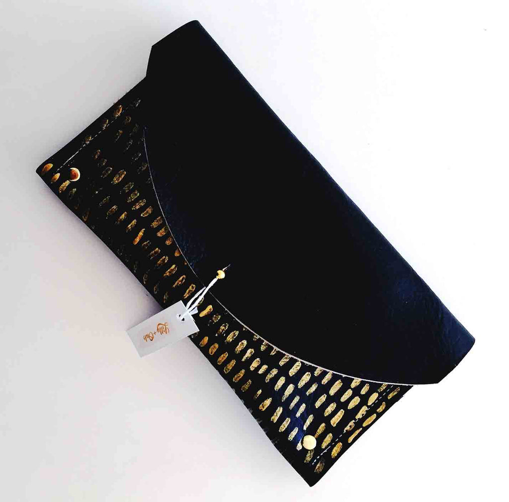 The Black + Gold Julian Clutch