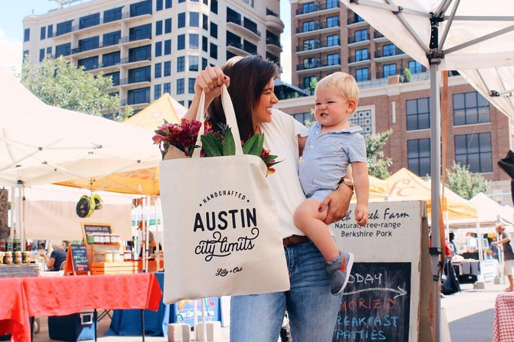 Austin City Limits Canvas Tote Designed by Lilly and Oak