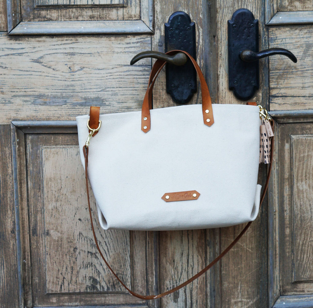 Canvas Tote Lilly and Oak Austin Texas Leather Goods