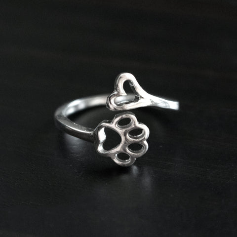 Always By My Heart Vintage Adjustable Ring