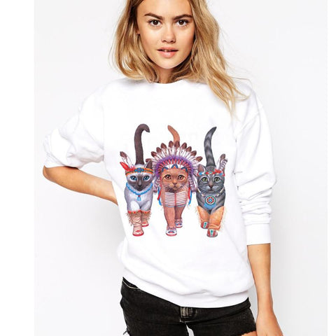 Cat Ethnic Sweatshirt