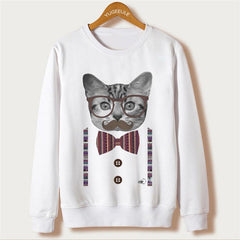 Cat Print Women Sweatshirts 2