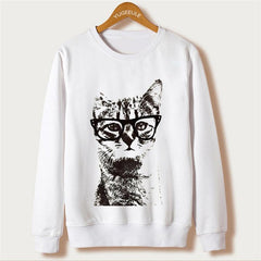 Cat Print Women Sweatshirts 5