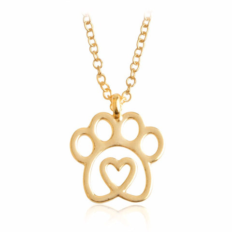 Memorial Love&Paw Pendant Necklace