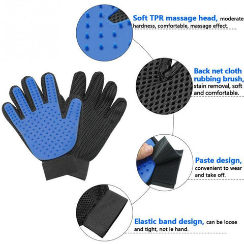 Deshedding Brush Pet Glove ( Dog & Cat)