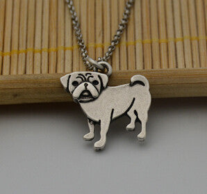 Vintage Pug  Necklace