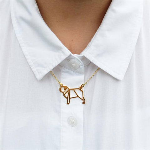Gold/Silver Plated Pug Necklace