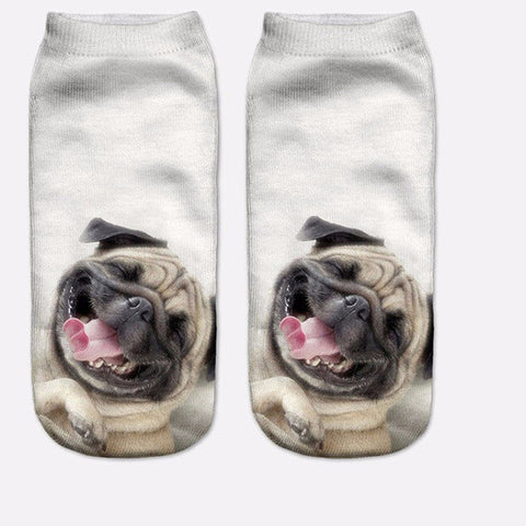 3D Pug  Casual Socks [6 Variants]