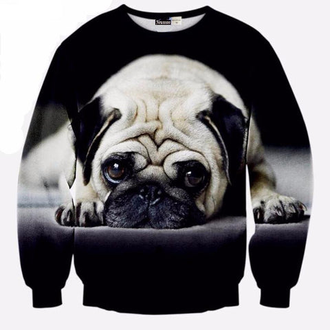 New Special big 3D Pug Sweatshirt design