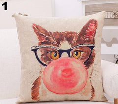 Cute Kitty Throw Pillow Cover1 BUY 1 GET 1 FREE!!!