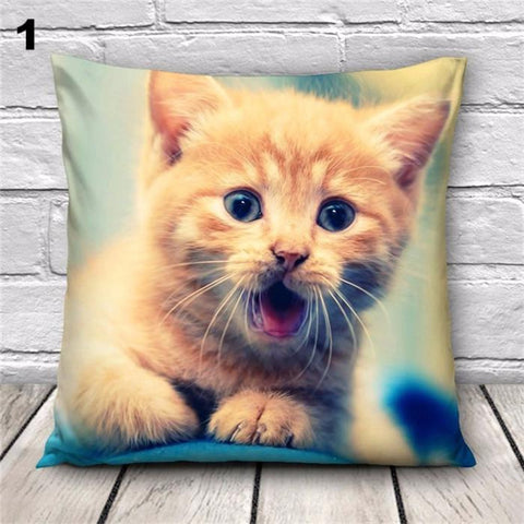 Cat Pattern Throw Pillow Case [4 variants]