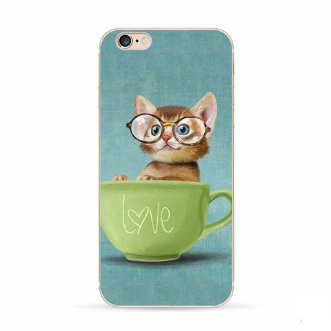 Apple Iphone 6  6s Cute Kitten Case 4