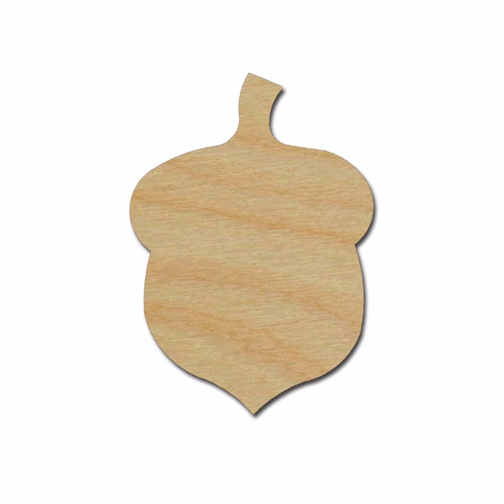 Acorn Shape Wood Cutout