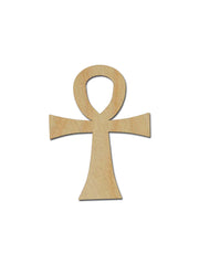 Ankh Unfinished Wood Cross by Artistic Craft Supply
