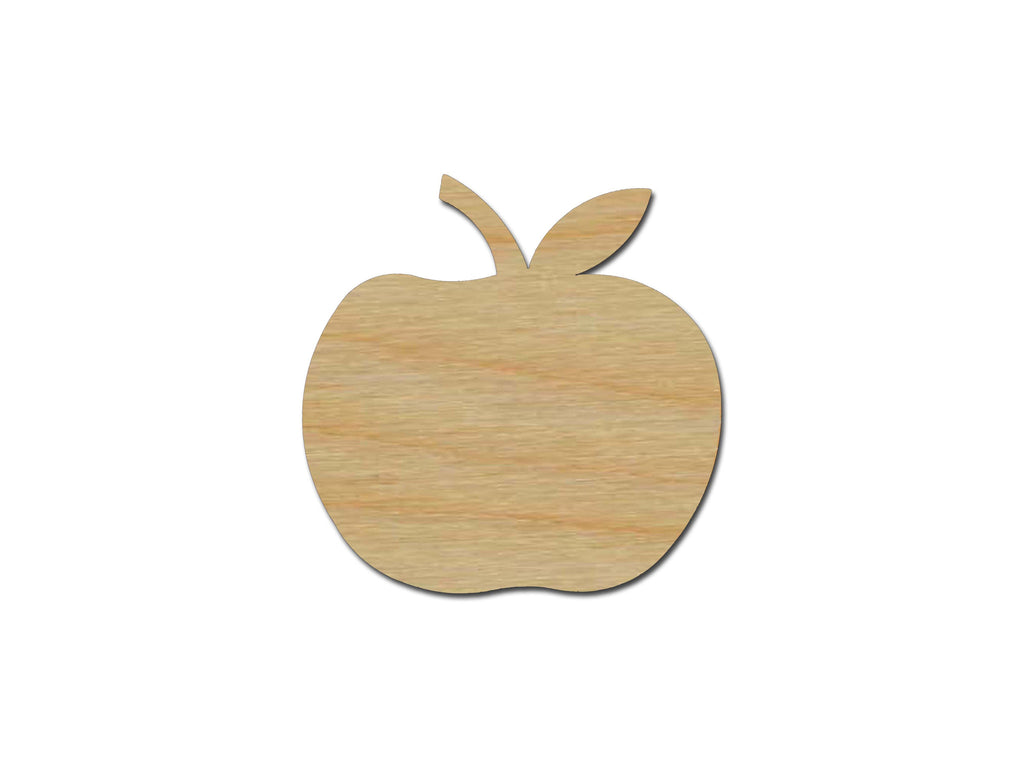Apple Shape Unfinished Wood Fruit Cutout Variety of Sizes