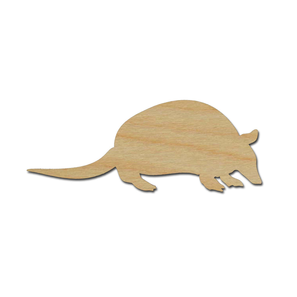 Armadillo Shape Unfinished Wood Cut Out Animal Crafts Variety of Sizes