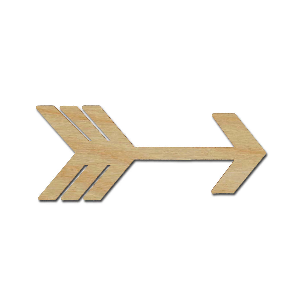 Arrow Shape Unfinished Wood Craft Cutout Variety of Sizes