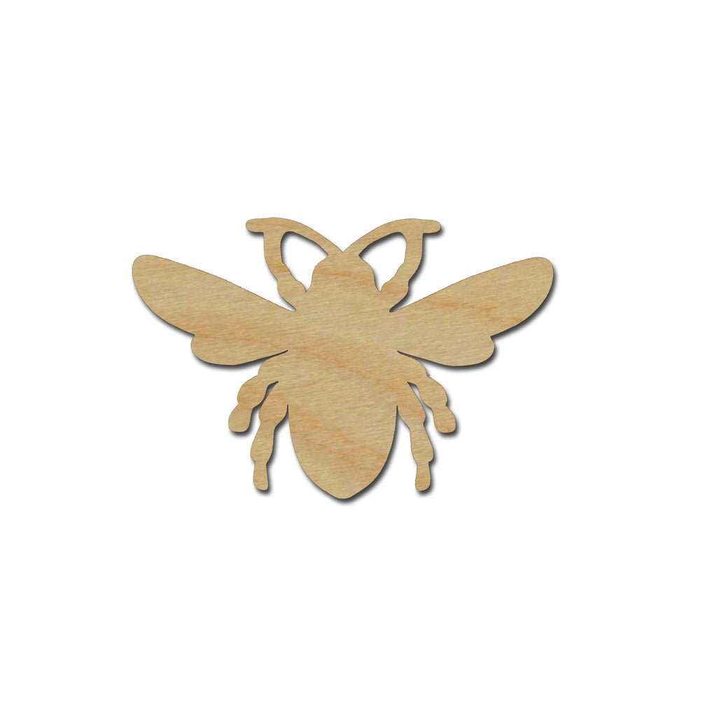 Bee Shape Unfinished Wood Cutouts Variety of Sizes
