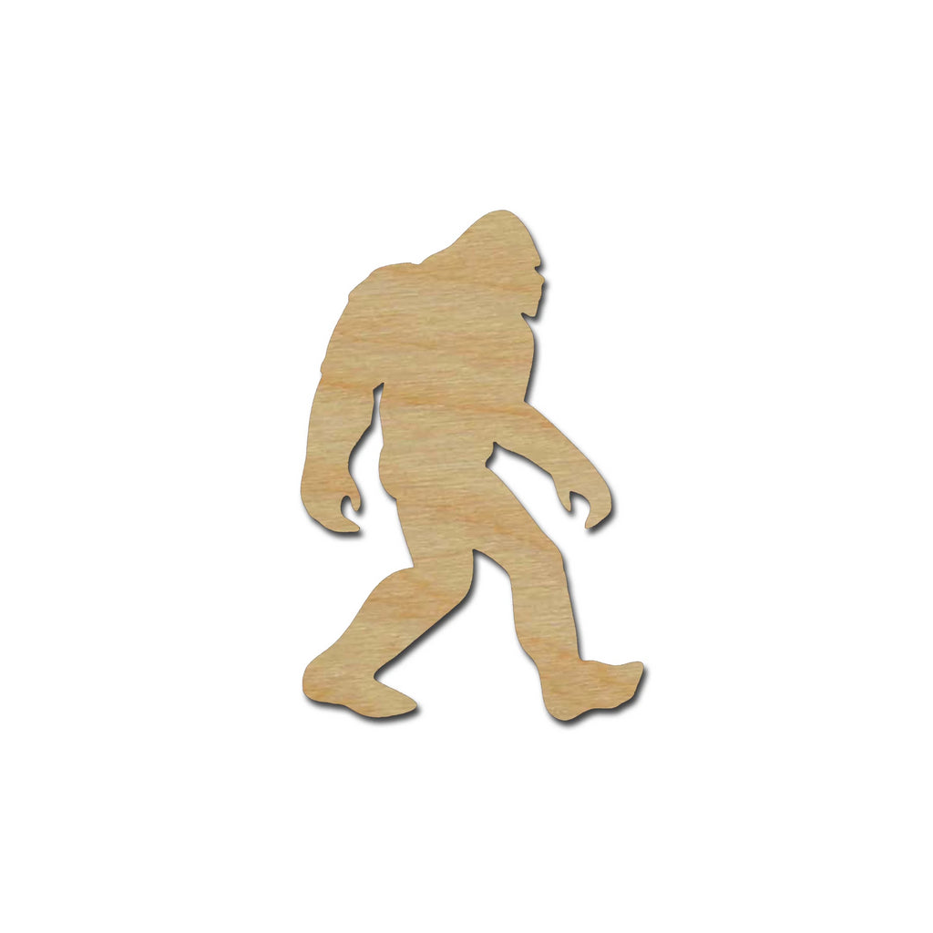 Bigfoot Sasquatch Shape Unfinished Wood Craft Cutouts Variety of Sizes