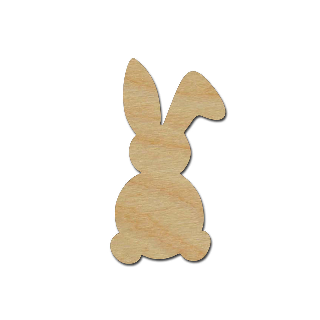 Bunny Rabbit Shape Unfinished Wood Craft Cutout Easter Decorations Variety of Sizes #004