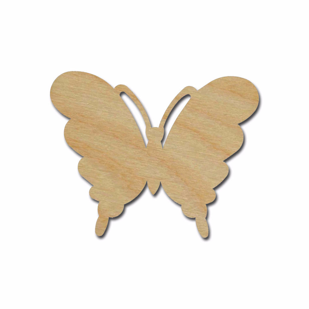 Butterfly Shape Unfinished Wood Craft Cutout Variety of Sizes