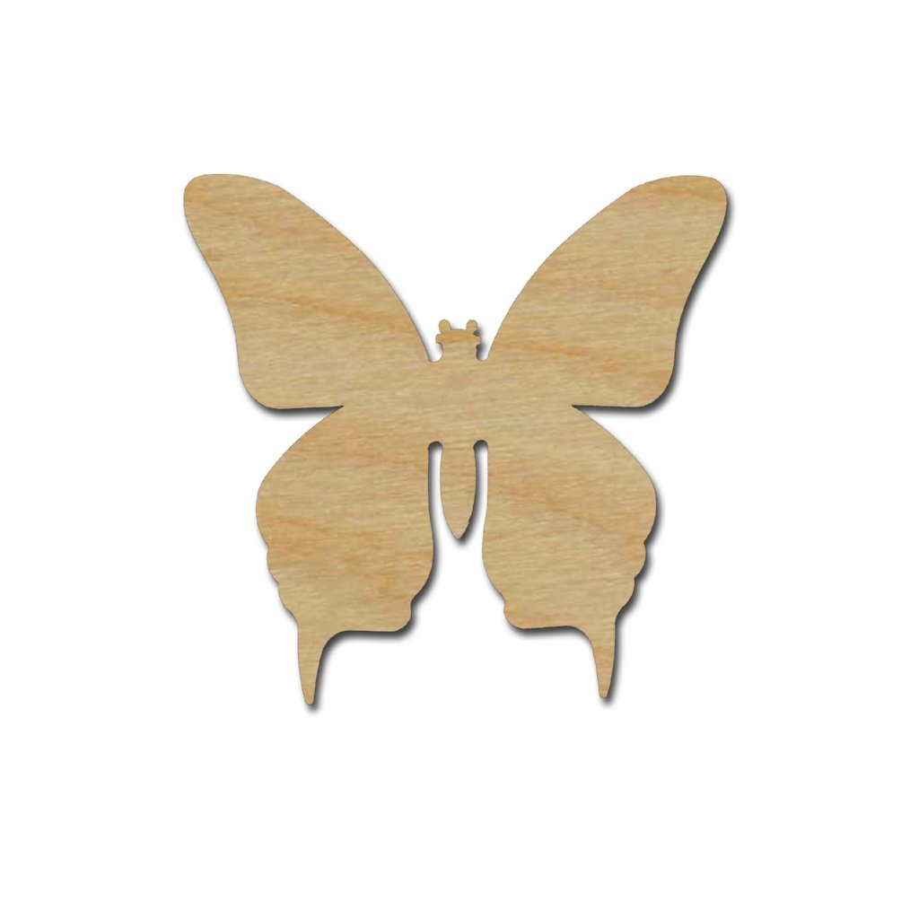 Copy of Butterfly Shape Unfinished Wood Craft Cutout Variety of Sizes #002