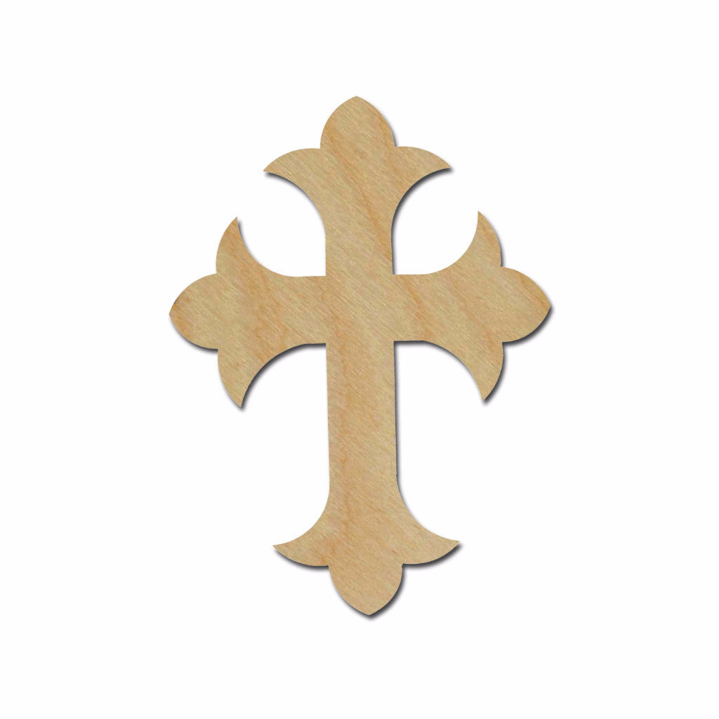 Unfinished Wood Cross MDF Craft Crosses Variety of Sizes C122