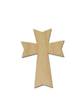 Unfinished Wood Cross Cutout MDF Craft Crosses Variety of Sizes C136