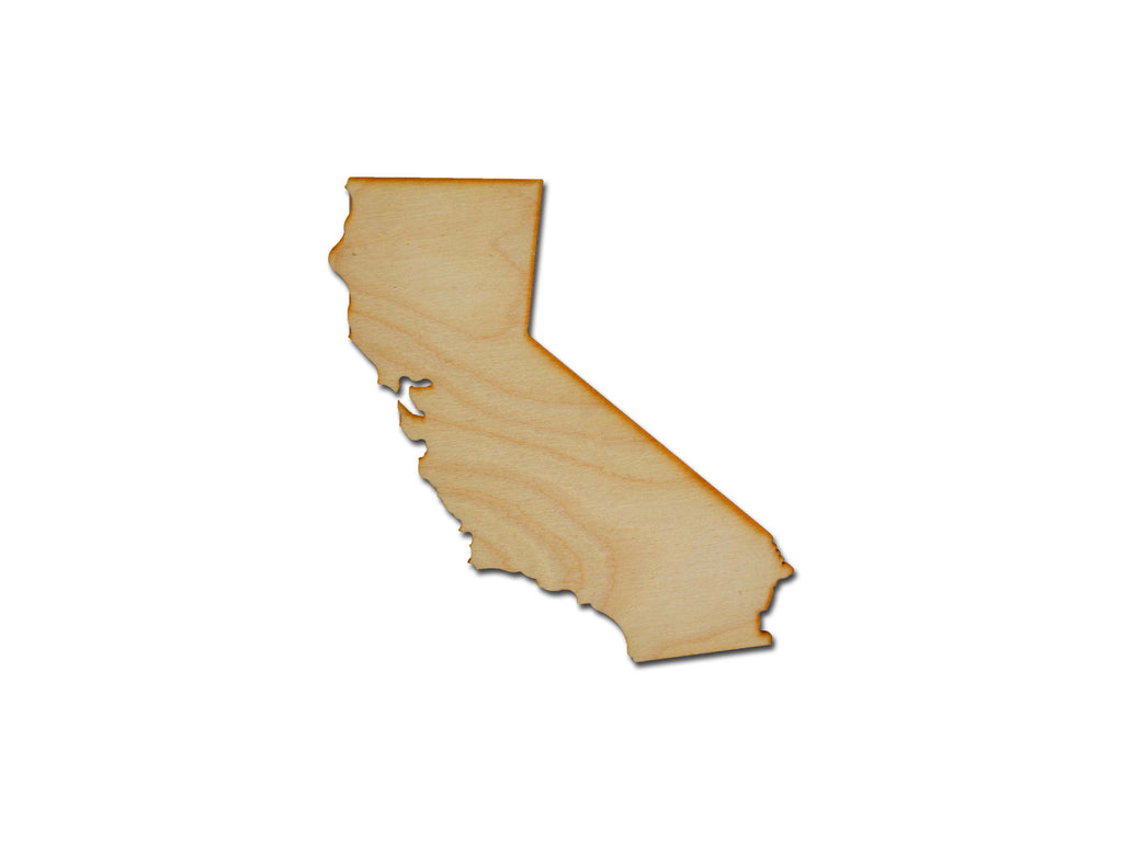California State Shape Unfinished Wood Craft Cut Out Variety Of Sizes Made In USA