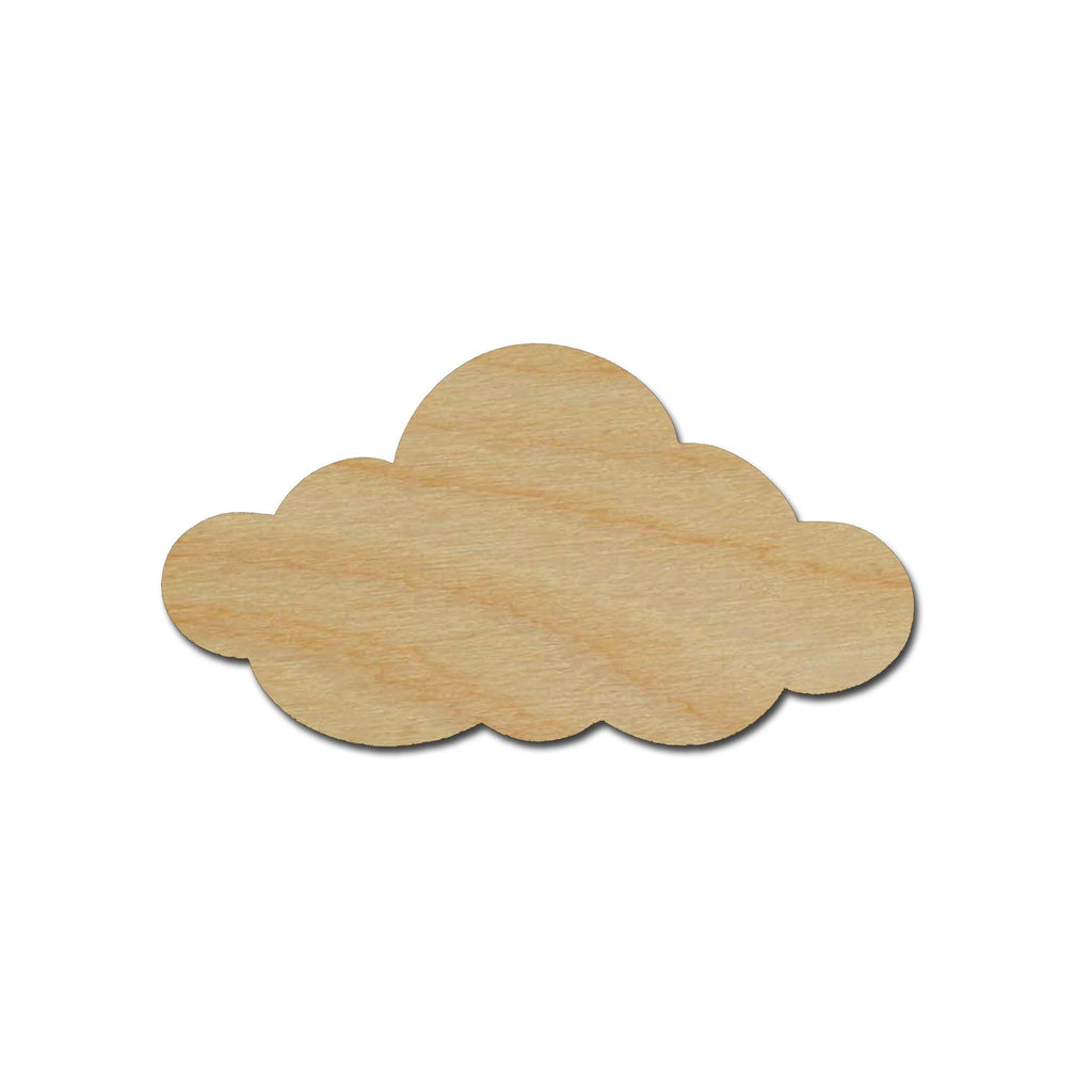 Cloud Shape Unfinished Wood Cut Outs Variety of Sizes