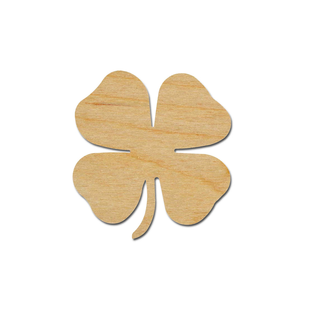 4 Leaf Clover Shamrock Shape Unfinished Wood Cut Outs St Patrick's Day Variety of Sizes
