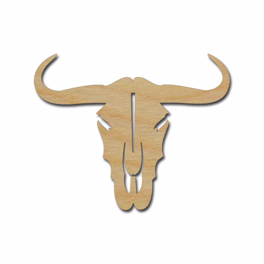 Cow Skull Shape Unfinished Wood Steer Western Craft Shapes Variety of Sizes