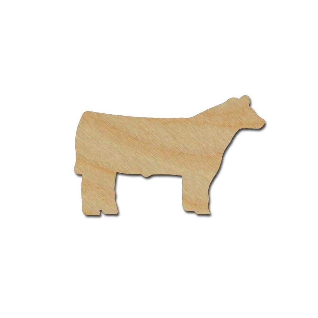 Steer Shape Unfinished Wood Animal Cutouts Variety of Sizes