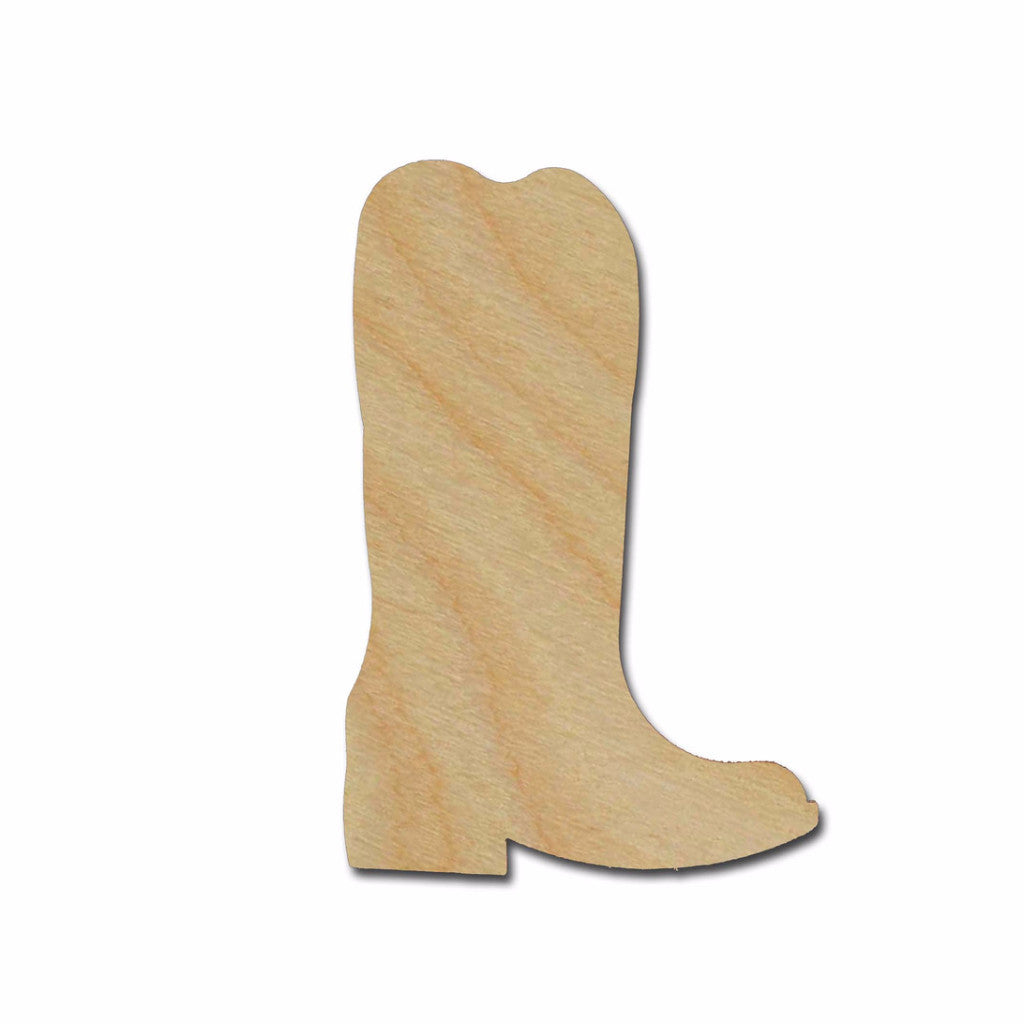 Cowboy Boot Unfinished Wood Cutout Variety of Sizes