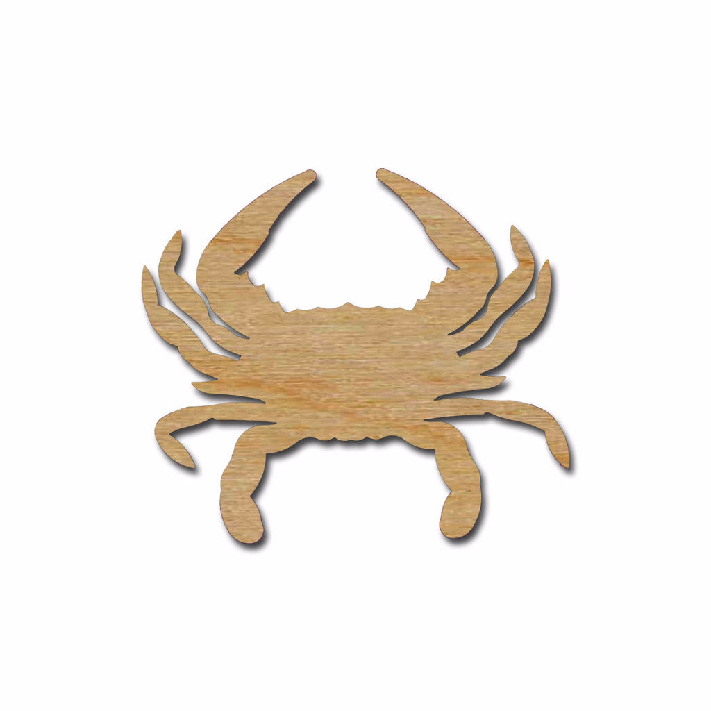 Crab Cutout Unfinished Wood Sea Life Shapes Variety of Sizes