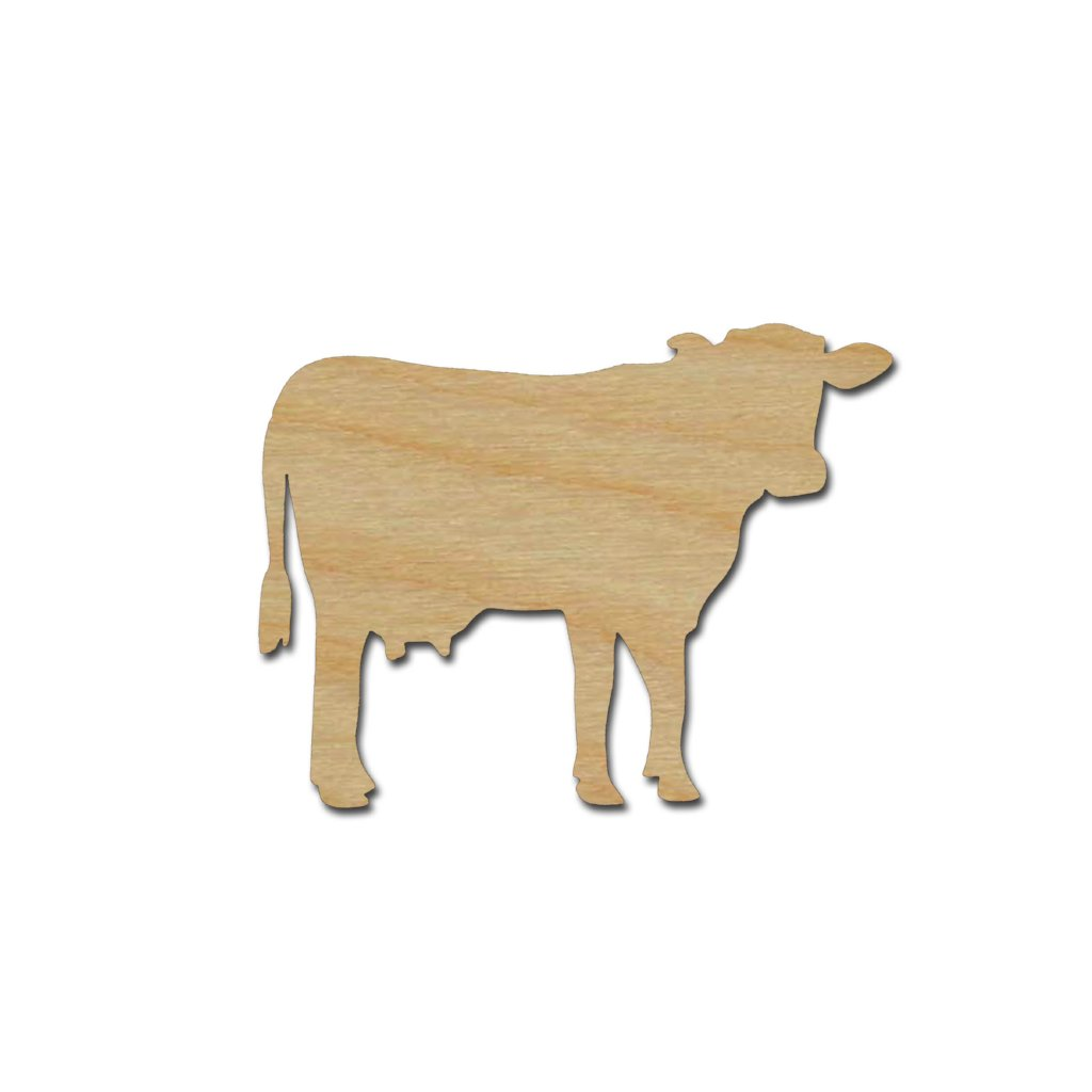 Dairy Cow Shape Unfinished Wood Animal Cutouts Variety of Sizes