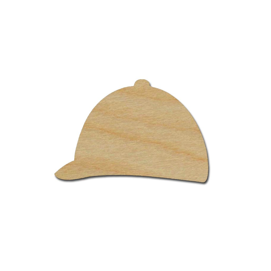 Jockey Hat Shape Unfinished Wood Derby Craft Cutout Variety of Sizes