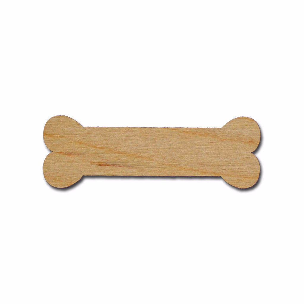 Dog Bone Unfinished Wood Cutouts Wooden Craft Shapes Variety of Sizes