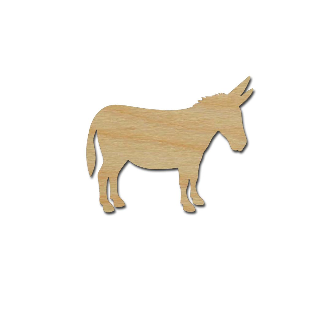 Donkey Shape Unfinished Wood Animal Cutouts Variety of Sizes