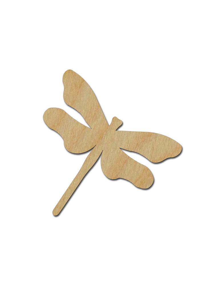 Dragonfly Shape Unfinished Wood Craft Cutout Variety of Sizes