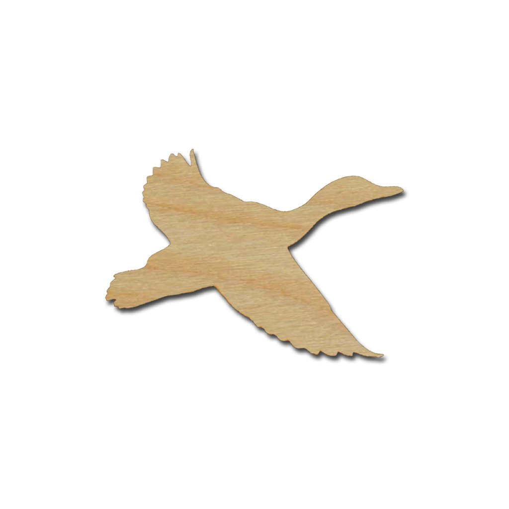 Duck shape unfinished wood cut out