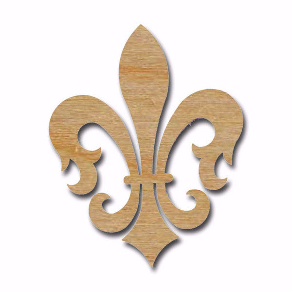 Fleur De Lis Shape Unfinished Wood Cut Out Variety Of Sizes