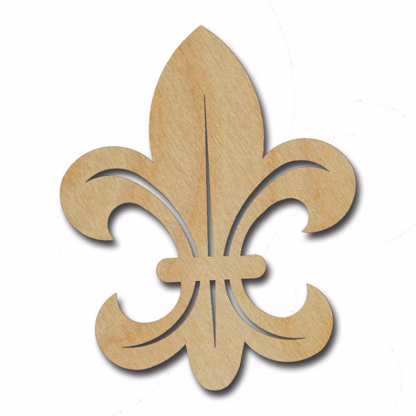 Fleur De Lis Unfinished Wood Cutout Variety of Sizes FLE010