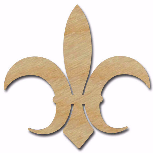 Fleur De Lis Unfinished Wood Cutout Variety of Sizes FLE011
