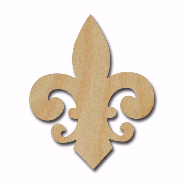 Fleur De Lis Unfinished Wood Cutout Variety of Sizes FLE012
